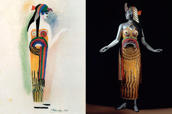 """Sonia Delaunay, Costume for """"Cleopatra."""""""