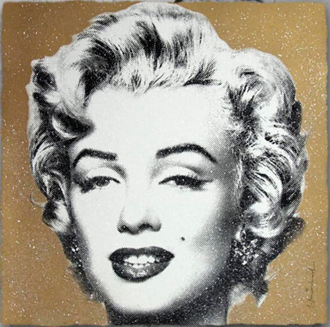 Mr. Brainwash | Diamond Girl Gold