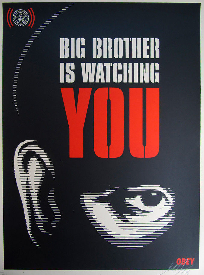 Shepard Fairey | Big brother is watching you